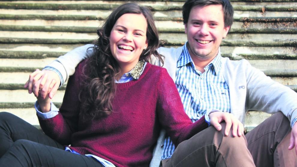 SNART GIFT: Solveig Stenerud og Ruben Lie Monsen gifter seg 14. juni og reiser til Alta i august. Foto: Privat