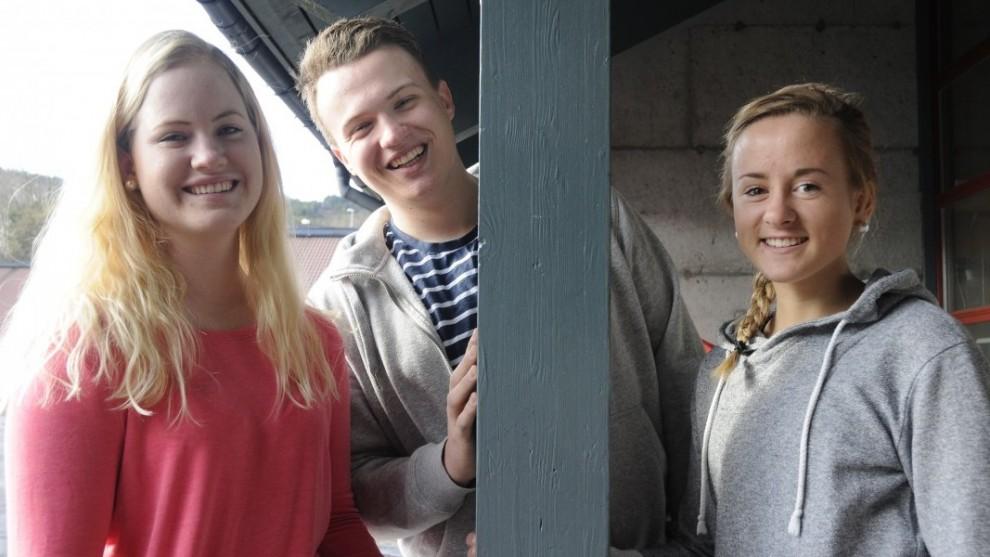 Gunn Honnemyr (20, til venstre), Vegard Hetlebakke (19) og Åshild Hauge (19) skal reise i team for ImF-Ung, FOTO: BRIT RØNNINGEN