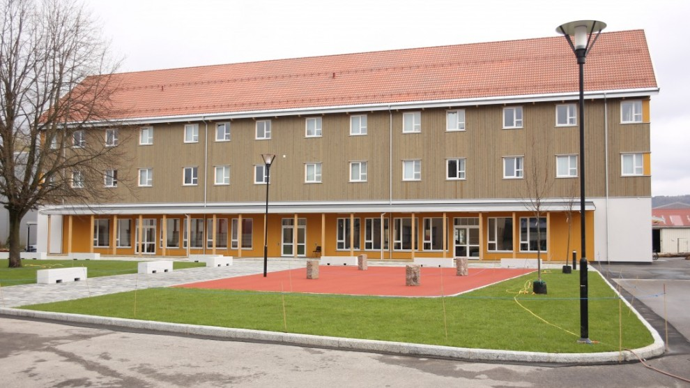 Utbyggingen av KVS Lyngdal er nå ferdig. Her er det nye internatbygget. Foto: KVS Lyngdal